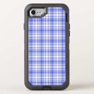 Blue White Plaid 2 OtterBox Defender iPhone 8/7 Case