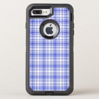 Blue White Plaid 2 OtterBox Defender iPhone 8 Plus/7 Plus Case