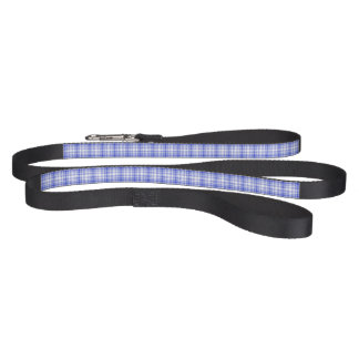 Blue White Plaid 2 Pet Lead