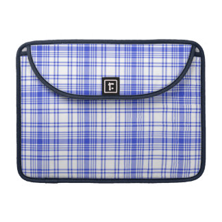 Blue White Plaid 2 Sleeve For MacBook Pro