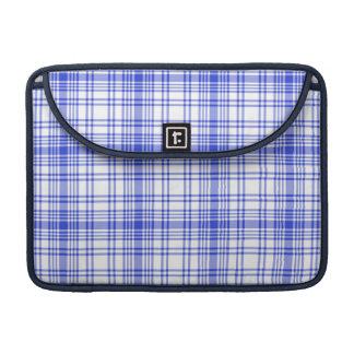 Blue White Plaid 2 Sleeve For MacBooks