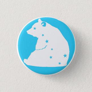 blue white plates Great Bear 3 Cm Round Badge