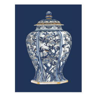 Blue & White Porcelain Vase by Vision Studio Postcard