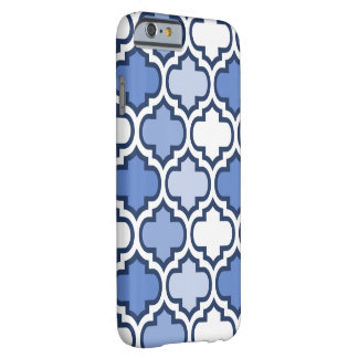 Blue White Quatrefoil Design iPhone Case Barely There iPhone 6 Case