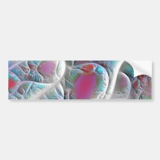 Blue & White Quilt - Magenta & Aqua Delight Bumper Sticker