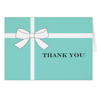 Blue & White Reception Party Thank You Note Cards