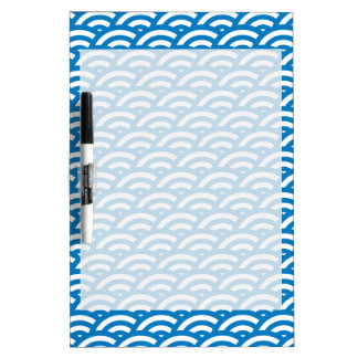 Blue White Scale Pattern Dry-Erase Whiteboards