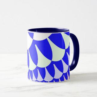 Blue White Scales Mug