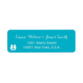 Blue White Seahorse Personalized Address Labels