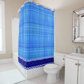 Blue & White Shower Curtain