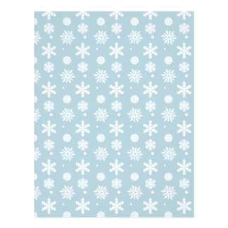 Blue White Snowflakes Pattern 1 21.5 Cm X 28 Cm Flyer
