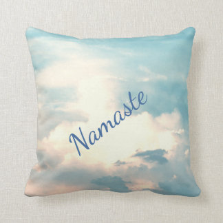 Blue / White Spiritual Namaste design Cushion