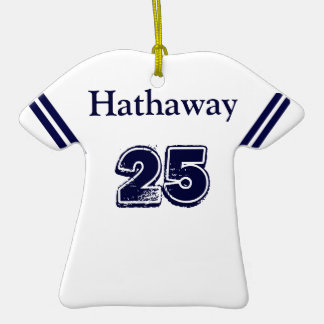 Blue White Sports Jersey Ornament