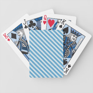 Blue-white squares background bicycle playing cards