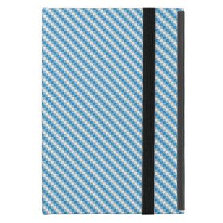 Blue-white squares background cases for iPad mini