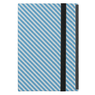 Blue-white squares background cover for iPad mini