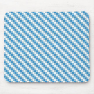 Blue-white squares background mouse mat