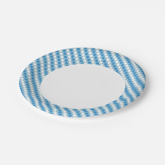Blue-white squares background paper plate