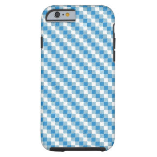Blue-white squares background tough iPhone 6 case
