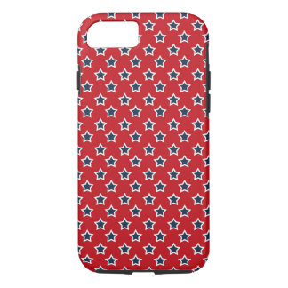 Blue & White Stars on Red iPhone 7 Case