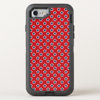 Blue & White Stars on Red OtterBox Defender iPhone 7 Case