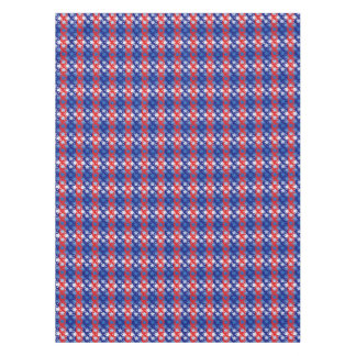 Blue White Stars Red Blue Stripes Tablecloth