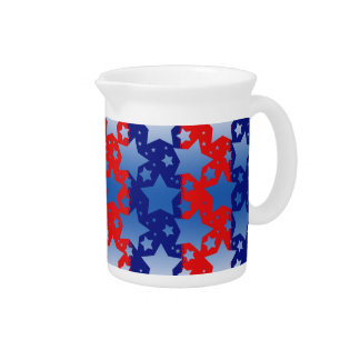 Blue White Stars Red Blue Stripes Drink Pitchers
