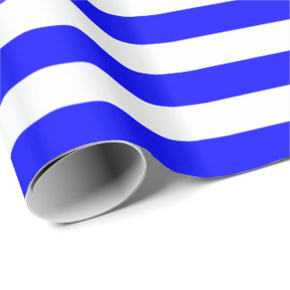 Blue/White Stripe Wrapping Paper