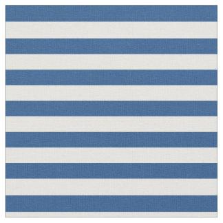Blue & White Striped Fabric