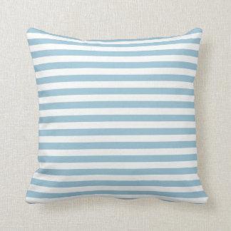Blue White Striped Pillow