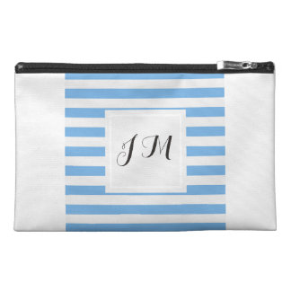 Blue & White Striped Travel Accessories Bag