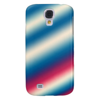 Blue White Stripes |: add text or image Galaxy S4 Case