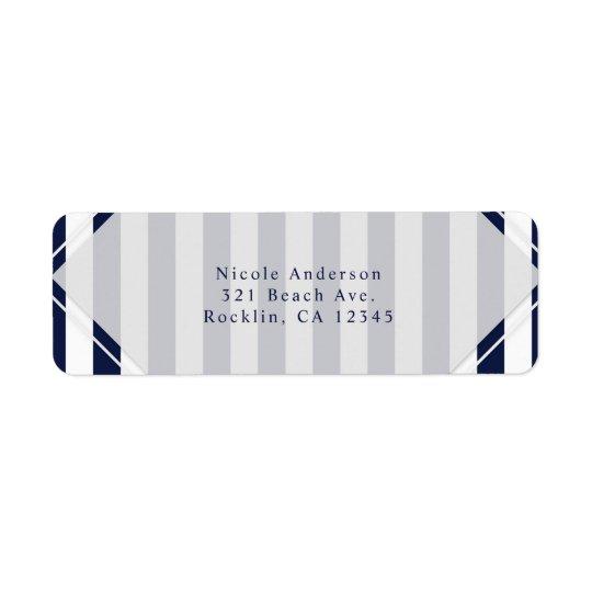 Blue & White Stripes Modern Striped Invitation