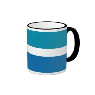 Blue White Stripes Pattern Ringer Mug