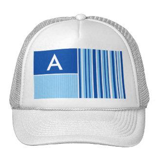 Blue White Stripes Striped Hats