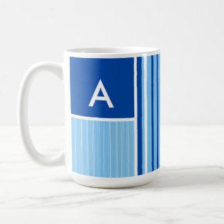 Blue & White Stripes; Striped Coffee Mugs
