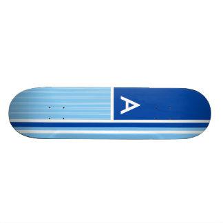 Blue & White Stripes; Striped Skateboard Decks