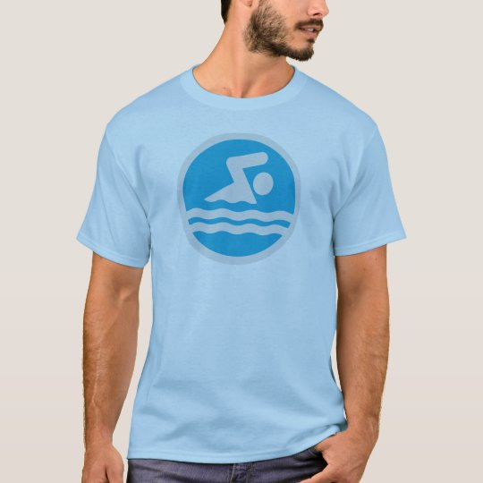 Blue & White Swim T-shirt for Swimmers or