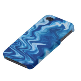 Blue/White Swirl iPhone 4S Case Case For iPhone 4