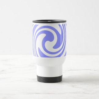 Blue, White Swirls Nautical Inspired Travel Mug