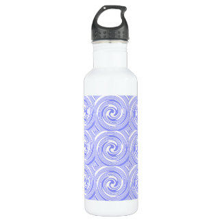 Blue, White Swirls Pattern 710 Ml Water Bottle