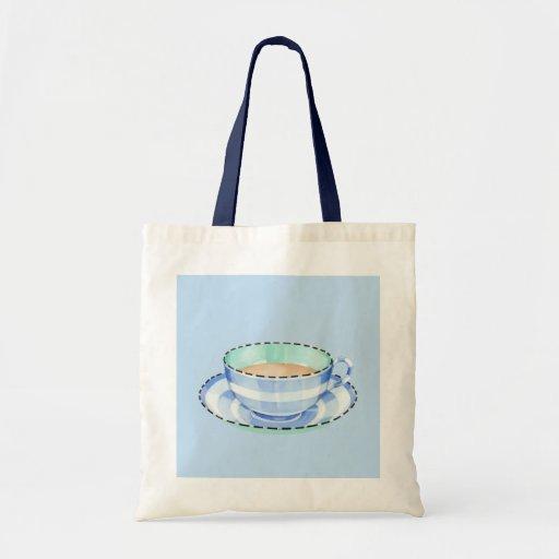 Blue White Teacup blue Bag