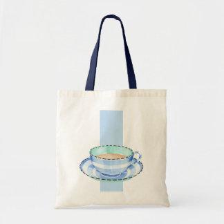 Blue White Teacup white blue Bag