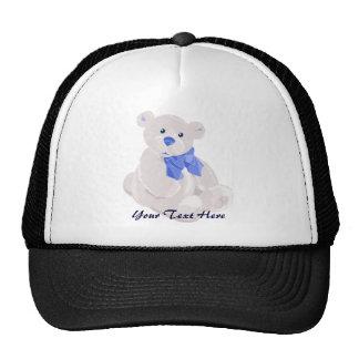 Blue & White Teddy Hat