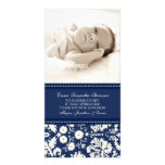 Blue White Thank You Baby Shower Photo Cards