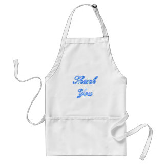 Blue White Thank You Design The MUSEUM Zazzle Gift Adult Apron