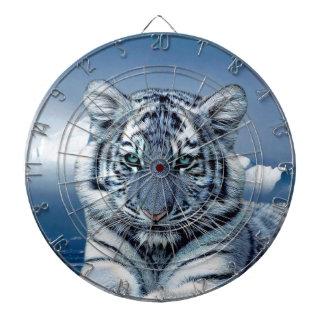 Blue White Tiger Dartboard