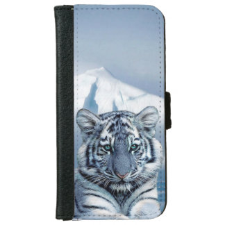 Blue White Tiger iPhone 6 Wallet Case