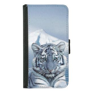 Blue White Tiger Samsung Galaxy S5 Wallet Case