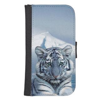Blue White Tiger Samsung S4 Wallet Case